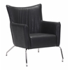 ZuoMod OSTEND OCCASIONAL CHAIR BLACK