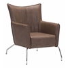 ZuoMod OSTEND OCCASIONAL CHAIR SADDLE BROWN