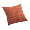 ZuoMod Joey Small Outdoor Pillow Brown and Clay wide stripe