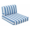 ZuoMod BILANDER ARM CHAIR CUSHION BLUE & WHITE