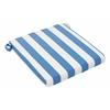 NAUTICAL CHAIR SEAT CUSHION BLUE & WHITE, Set of 2