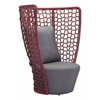 ZuoMod FAYE BAY BEACH CHAIR CRANBERRY & GRAY