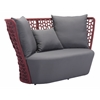 ZuoMod FAYE BAY BEACH SOFA CRANBERRY & GRAY