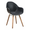 ZuoMod TIDAL DINING CHAIR BLACK, Set of 4