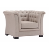 ZuoMod NOB HILL ARM CHAIR BEIGE