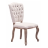 ZuoMod EDDY DINING CHAIR BEIGE, Set of 2
