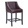 ZuoMod SANTA ANA COUNTER CHAIR BROWN