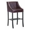 ZuoMod SANTA ANA BAR CHAIR BROWN