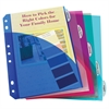 Mini Size 5-Tab Poly Index Dividers, Assorted Colors with Slant Pockets, 5/ST (Set of 12 ST)