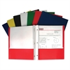 Recycled Two-Pocket Paper Portfolios with Prongs, Assorted, 1/EA (Set of 100 EA)