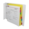 C-Line 8-Tab Paper Index Dividers, Assorted Color Tabs, 8/PK (Set of 18 PK)