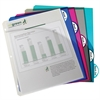 Biodegradable 5-Tab Poly Binder Index Dividers with Slant Pockets, Assorted, 5/PK (Set of 6 PK)