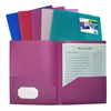 C-Line Two-Pocket Heavyweight Poly Portfolio Folder, Jewel Tone Colors, 1 Folder (Color May Vary) (Set of 18 EA)