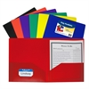 Two-Pocket Heavyweight Poly Portfolio Folder, Primary Colors, 1 Folder (Color May Vary) (Set of 18 EA)