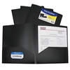 Two-Pocket Heavyweight Poly Portfolio Folder, Black, 1/EA (Set of 18 EA)