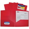 C-Line Two-Pocket Heavyweight Poly Portfolio Folder, Red, 1/EA (Set of 18 EA)