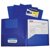 C-Line Two-Pocket Heavyweight Poly Portfolio Folder, Blue, 1/EA (Set of 18 EA)