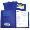 Two-Pocket Heavyweight Poly Portfolio Folder with Prongs, Blue, 1/EA (Set of 12 EA)