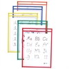 Reusable Dry Erase Pockets, Assorted Primary Colors, 9 x 12, 5/PK (Set of 2 PK)
