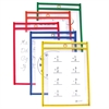 C-Line Reusable Dry Erase Pockets, Assorted Primary Colors, 6 x 9, 10/PK (Set of 2 PK)