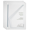 C-Line Vinyl Report Covers with Binding Bars, Clear, White Binding Bars, 11 x 8 1/2, 3/PK (Set of 12 PK)