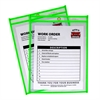Neon Shop Ticket Holder, Green, Stitched, Both Sides Clear, 9 x 12, 15EA/BX