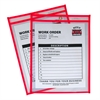 Neon Shop Ticket Holder, Red, Stitched, Both Sides Clear, 9 x 12, 15EA/BX