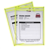 C-Line Neon Shop Ticket Holder, Yellow, Stitched, Both Sides Clear, 9 x 12, 15EA/BX