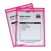 Neon Shop Ticket Holder, Pink, Stitched, Both Sides Clear, 9 x 12, 15EA/BX