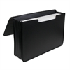 Poly Expanding Document Case, Legal Size, Black, 1/EA (Set of 2 EA)