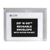 C-Line Zip 'N Go Reusable Envelope with Outer Pocket, Clear, 3/PK (Set of 4 PK)