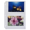 35mm Ring Binder Photo Storage Pages, 4 x 6, Traditional Clear, Side Load, 11 1/4 x 8 1/8, 50/BX (Set of 2 BX)