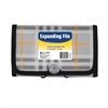 C-Line 13-Pocket Coupon Size Expanding File, Plaid, 1/EA (Set of 6 EA)