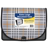 Extra Large Document Case, Plaid, 1/EA (Set of 4 EA)