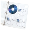 Deluxe CD Ring Binder Storage Pages, Standard, Stores 8 CDs, 5/PK (Set of 5 PK)