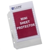 Heavyweight Polypropylene Sheet Protector, Mini, Clear, 8 1/2 x 5 1/2, 50/BX (Set of 2 BX)
