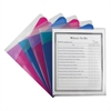 C-Line Multi-Section Project Folders, Clear Folders with Colored Dividers, 5/PK (Set of 6 PK)