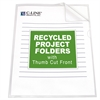 Recycled Project Folders, Clear - Reduced glare, 11 x 8 1/2, 25/BX (Set of 3 BX)