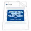 C-Line Project Folder with Antimicrobial Protection, Reduced Glare, 11 X 8 1/2, 25/BX (Set of 2 BX)