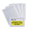 Self-Adhesive Business Card Holder, Side Load, 2 x 3 1/2, 10/PK (Set of 5 PK)
