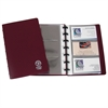 Binder Builder Business Card Holder, Junior, Burgundy w/15 Pages, Holds 6 Cards/Page, 7 1/4 x 4 7/8, 1/EA (Set of 3 EA)