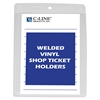 Vinyl Shop Ticket Holder, Both Sides Clear, 4 x 6, 50/BX