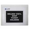 Shop Ticket Holders, Welded Vinyl, Both Sides Clear, Open Long Side, 12 X 9, 50/BX