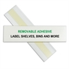 HOL-DEX Removable Peel & Stick Shelf/Bin Label Holders, 1 1/2 Inch Removable Adhesive Label Holder, 10/BX (Set of 2 BX)