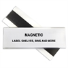HOL-DEX Magnetic Shelf/Bin Label Holders, 2 Inch Magnetic Label Holder, 10/BX (Set of 2 BX)