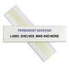 HOL-DEX Permanent Peel & Stick Shelf/Bin Label Holders, 1 Inch Permanent Adhesive Label Holder, 12/BX (Set of 2 BX)