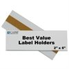 C-Line Best Value Peel & Stick Shelf/Bin Label Holders, 2 Inch x 6 Inch Removable Adhesive Label Holder, 50/PK