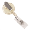 Clip-On Retractable ID Badge Reel, Clear, 12/PK