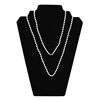 Neck Chains, 38 Inch White Plastic w/4mm Bead, 50/PK
