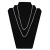 Neck Chains, 38 Inch Clear Plastic w/4mm Bead, 50/PK